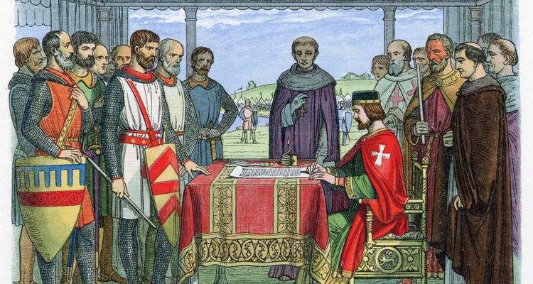 King John signed the Magna Carta at Runnymede in 1215.