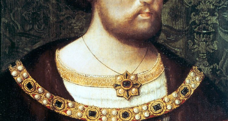 Monarcas como o rei Henrique VIII ditavam muitas das tendências de moda masculina