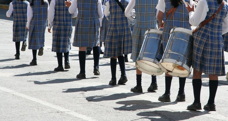 Uniforme escolar tradicional.