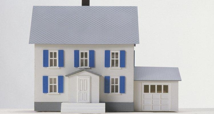 Uma casa independente fica separada das casas vizinhas