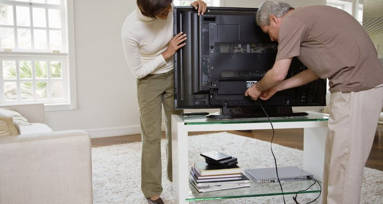Removing the stand from your Bravia can require two people.