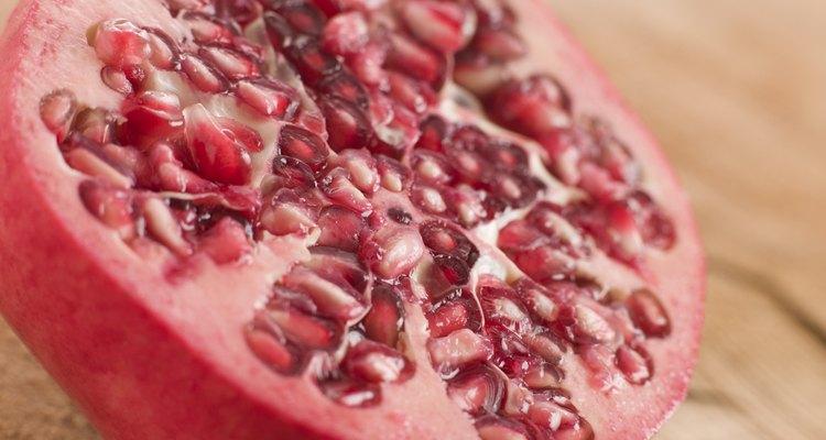 Halved fresh pommegranate