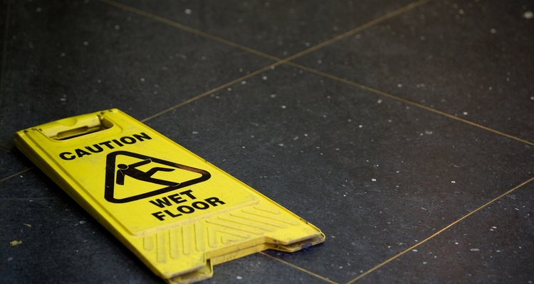 A caution sign will warn individuals of safety hazards.