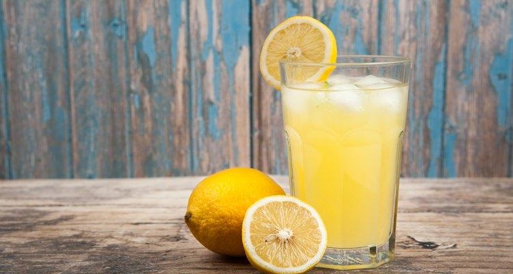 Fresh and icy lemonade