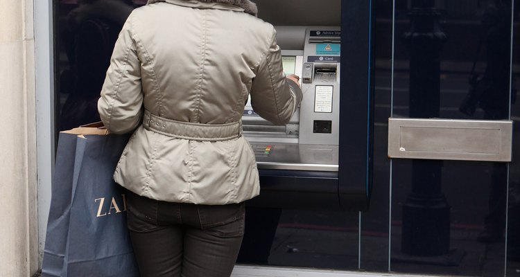You might get a debit advice in the form of a cashpoint receipt.