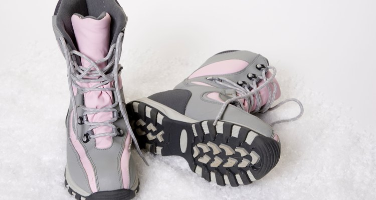 Snowboots in the Snow