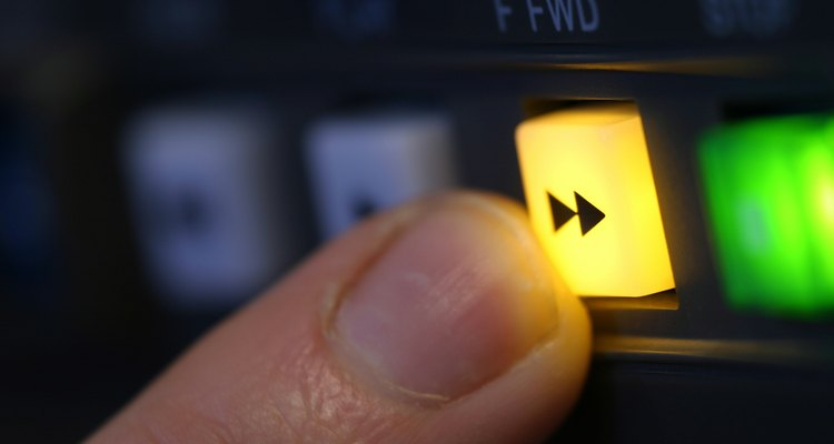 Fast-forwarding through an audio recording allows you to quickly find an edit point.