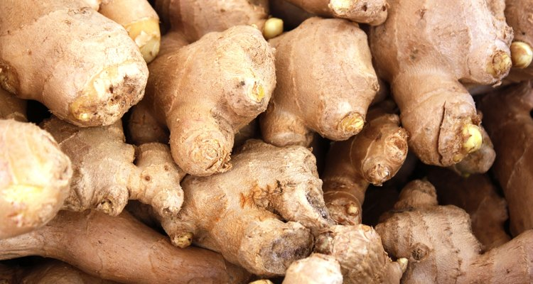 Ginger root at local market