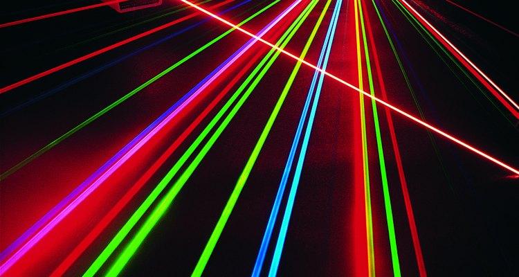 La alta concentración de luz en un rayo láser puede ser peligrosa.