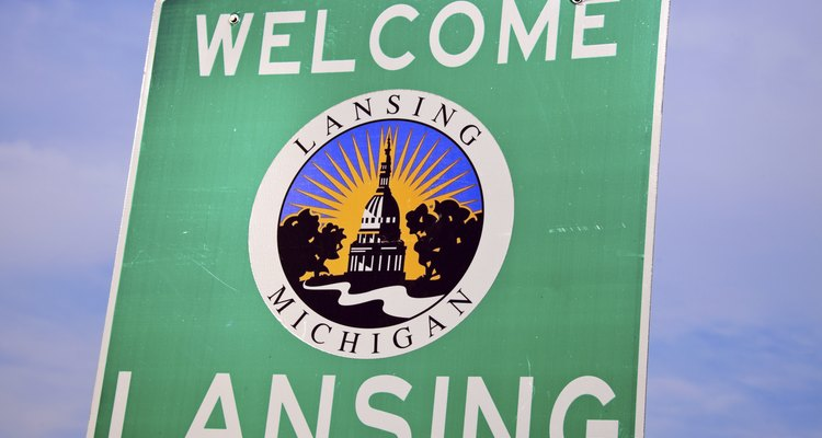 Lansing, Michigan welcome sign