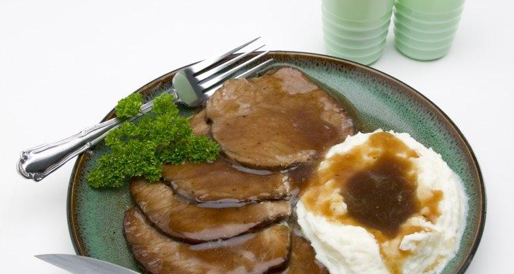 El puré de patata puede mezclarse con una variedad de hierbas.