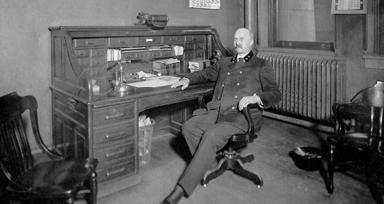 Roll-top desks have been in use in home and work offices for many years.