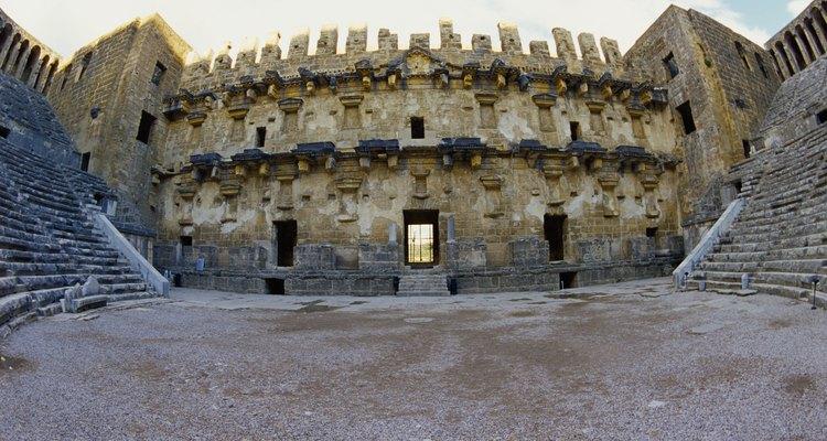 Um antigo anfiteatro grego