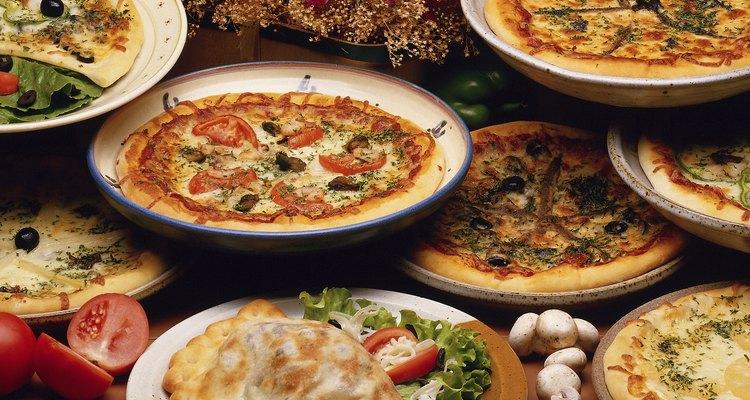 Variedades de pizza.