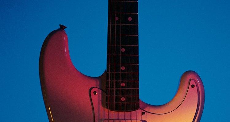 Desenhe seus objetos favoritos, como uma guitarra