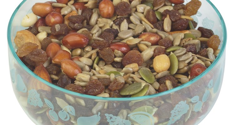 A bowl of nuts is handy for nibbling.