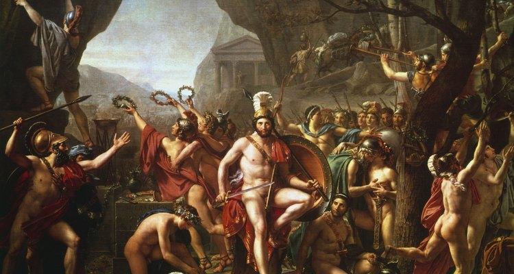"""Leônidas contra os Persas"", de Jacques-Louis David"