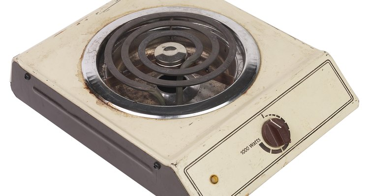 Los elementos de las hornillas y estufas eléctricas convierten la energía eléctrica en calor.