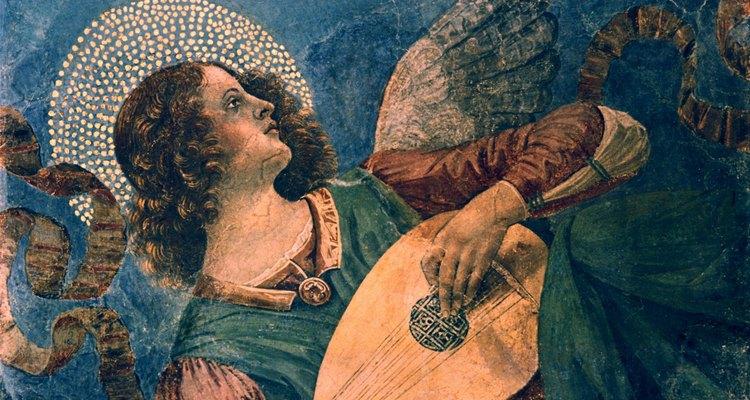 O Anjo de Melozzo da Forli está tocando alaúde