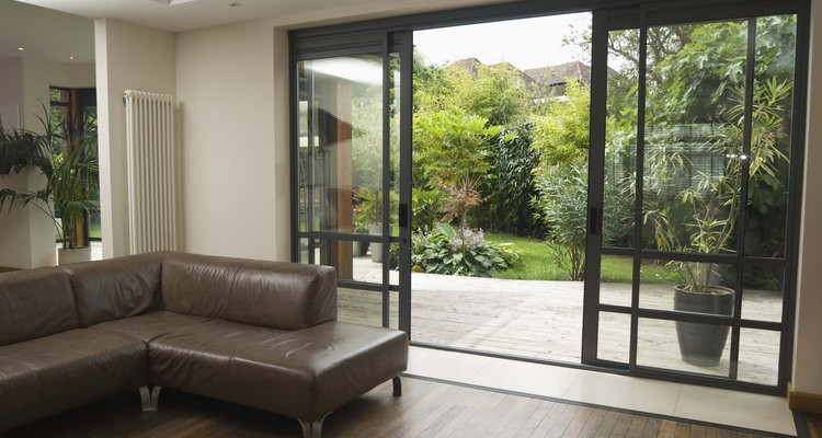 Sliding glass is aesthetically pleasing but doesn't offer much security.