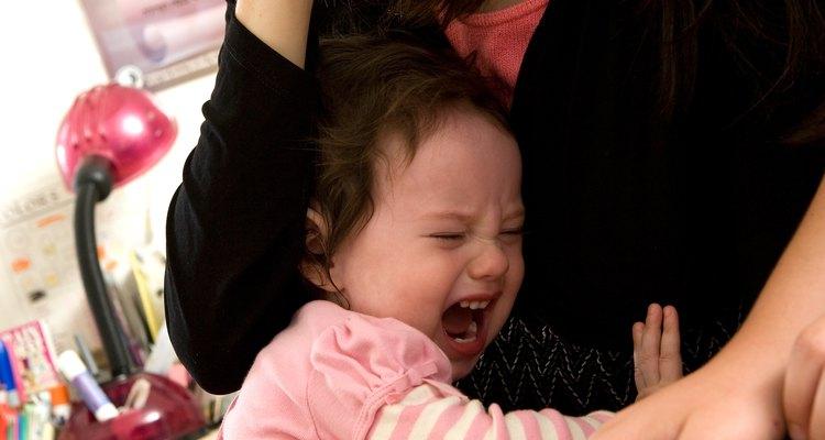 La frustación de un niño a menudo se puede convertir en un berrinche.