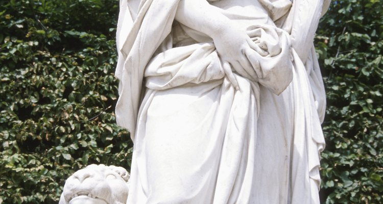 Resin statues are attractive additions to residential and commercial gardens.