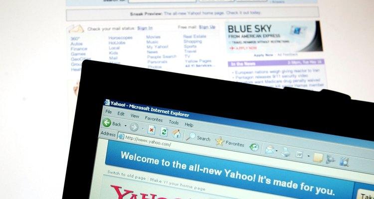 Página inicial do site Yahoo!