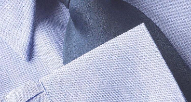 O punho de uma camisa