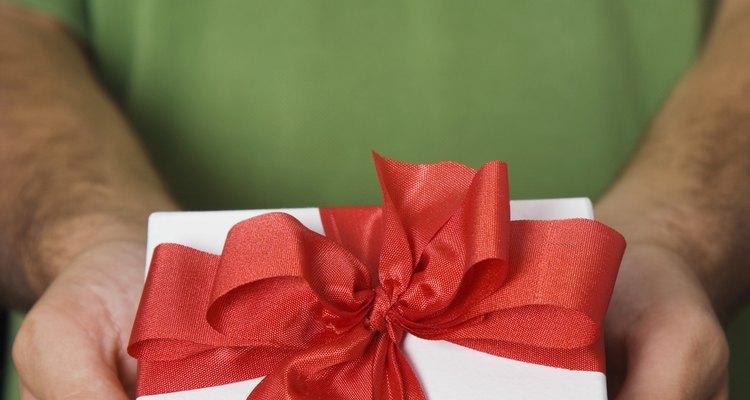 A caixa é uma maneira tradicional para dar um presente