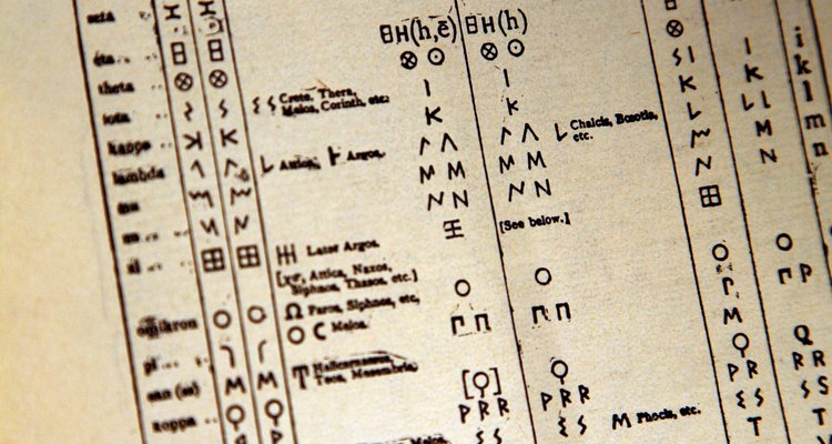 O sistema numérico grego correlaciona valores para as letras do alfabeto grego