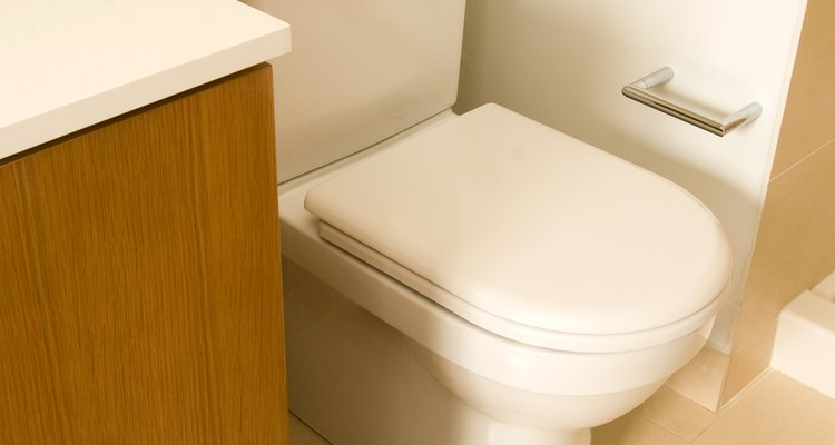 Many bathroom walls are covered with tile for superior water resistance.
