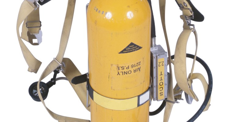 Oxygen tanks support people with respiration disorders.
