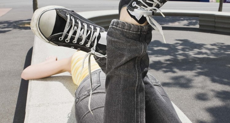Black Chuck Taylor All Star shoes were part of the original Converse brand.