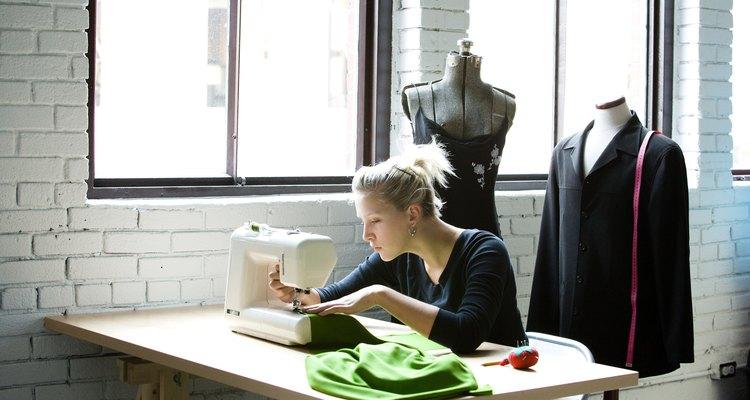 Seamstress altering clothing