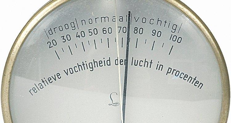 Os higrômetros medem a umidade do ar, seu ponto e a temperatura do vapor d'água