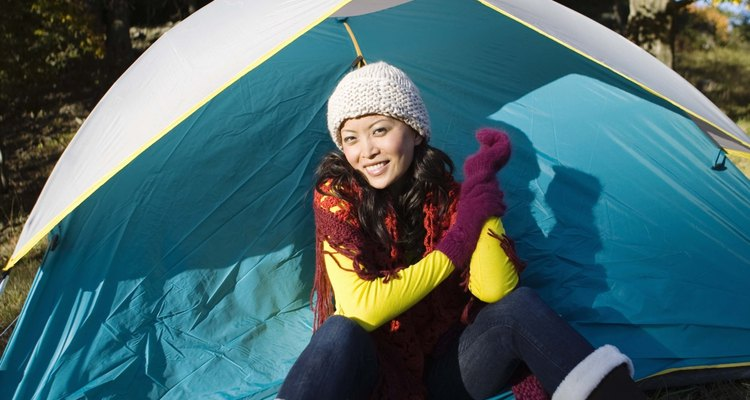 The tent is easily erected by a single person.