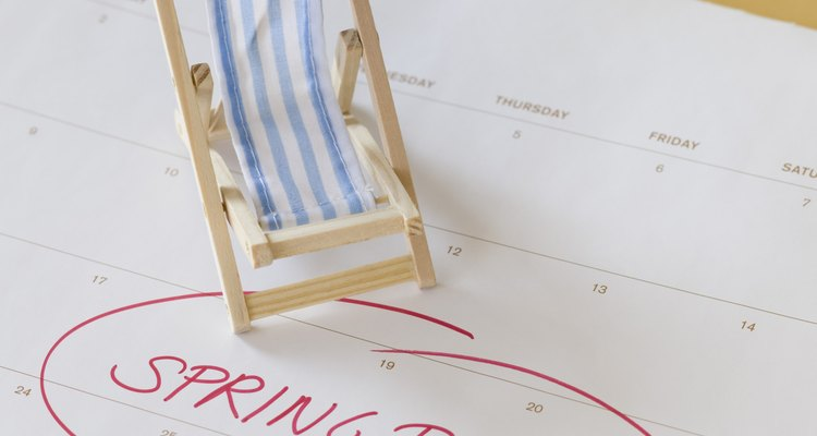 Calendários na sala geralmente destacam um feriado para que os alunos fiquem na expectativa de sua chegada