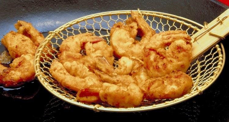 A farinha Panko é muito utilizada em restaurantes para empanar camarões