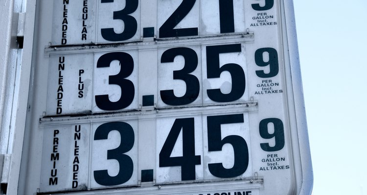 Gas prices are an example of the cost of products' influence on price.