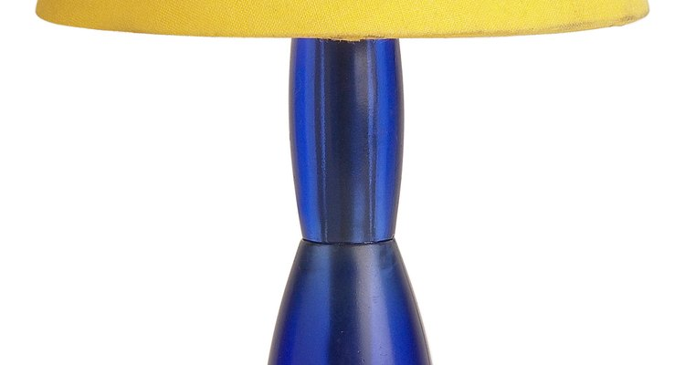 Adding colour to cracked lampshades may help hide the cracks.