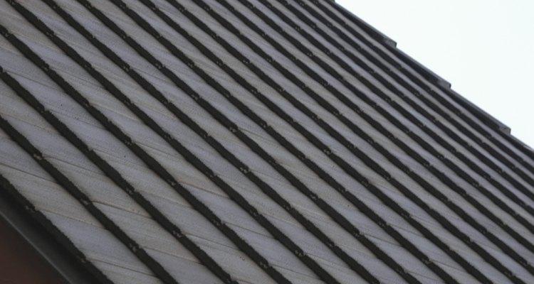 Um teto de ardósia é resiste a condições adversas de tempo
