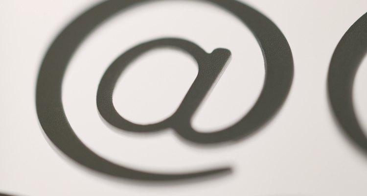 O símbolo '@' é usado como o botão da rosa