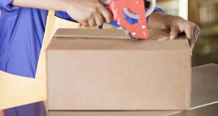 O empacotamento adequado é essencial durante a expedição de mercadorias