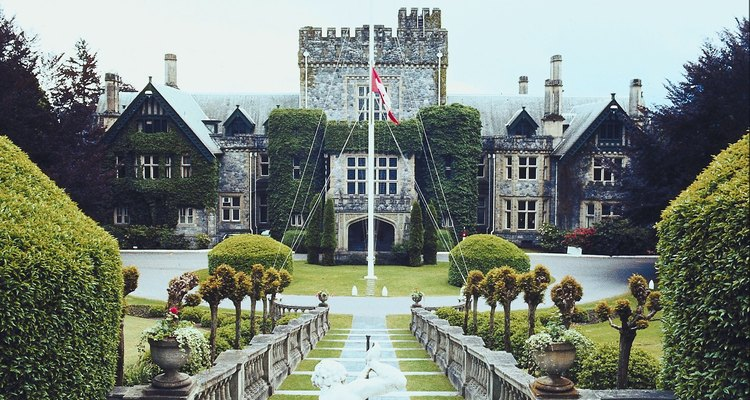 Castillo Hatley en Hatley Park, Victoria,  Columbia Británica.