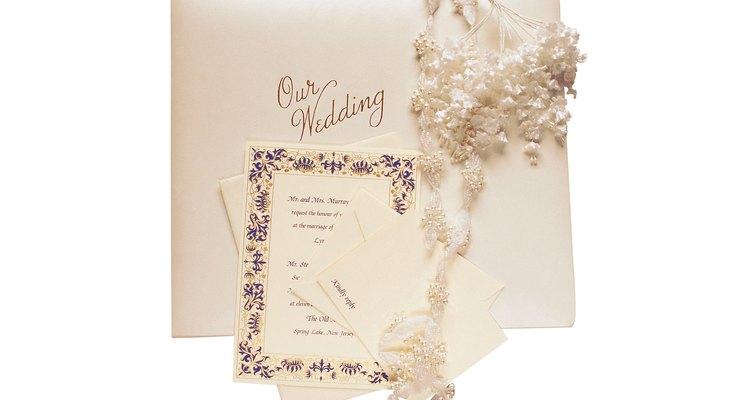 Wedding invitation and album