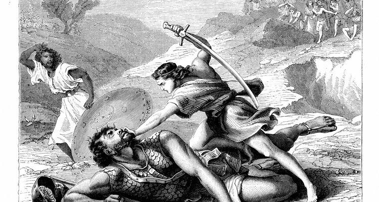 David mató y decapitó al gigante filisteo Goliat.
