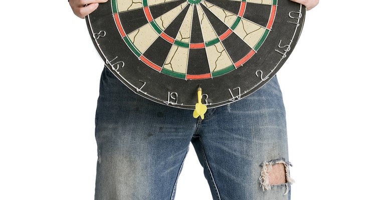 A bristled dartboard will last many years with proper care.