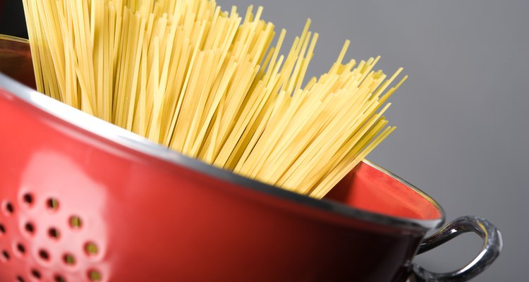Dried, uncooked pasta