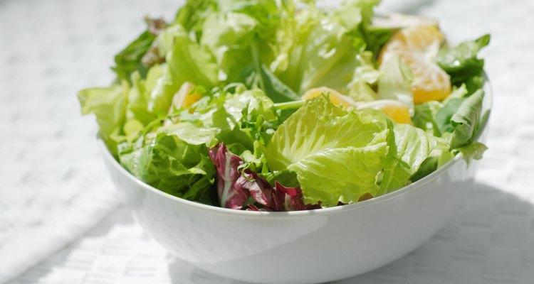 Mantenha a salada simples