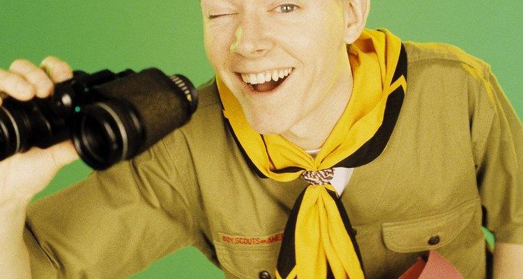 Los pañuelos son parte del uniforme de los boy scouts.